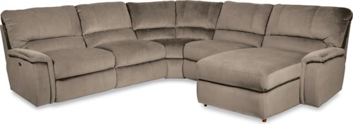 La-Z-Boy ASPEN Five Piece Power Reclining Sectional Sofa with LAS Reclining Chaise