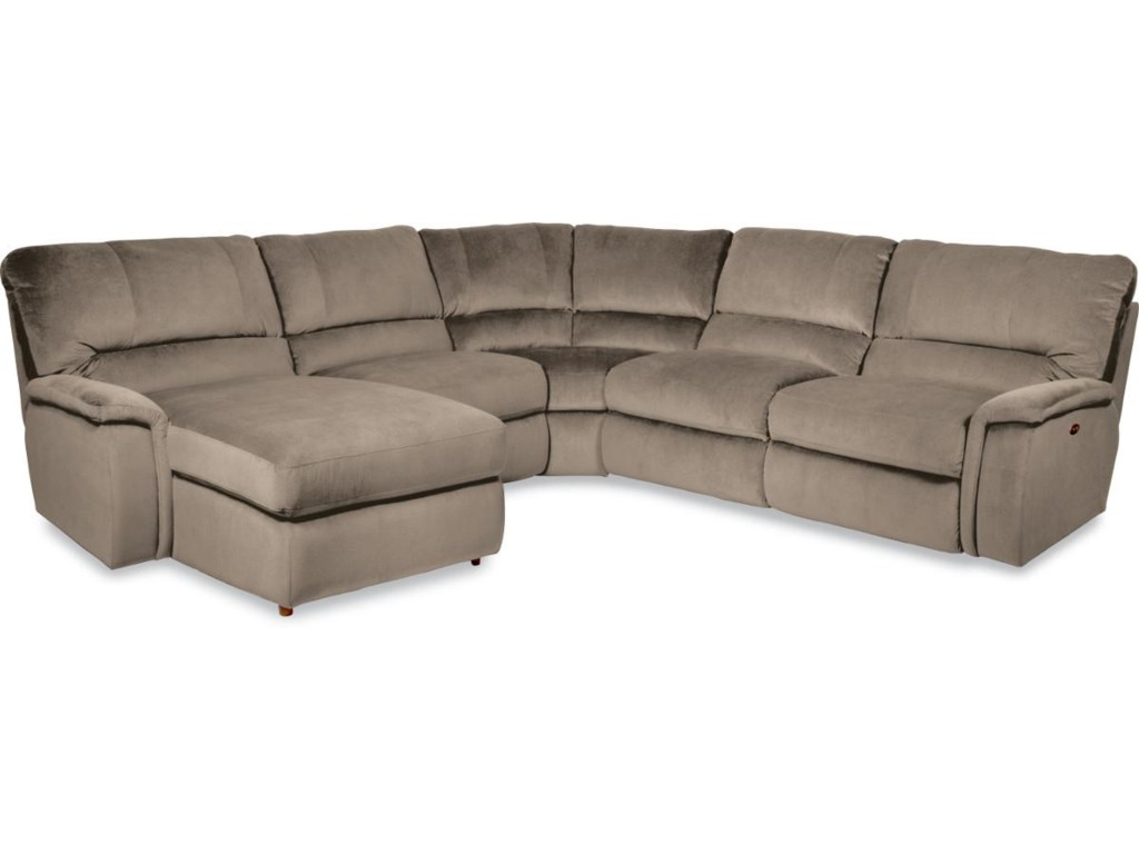 La-Z-Boy ASPEN5 Pc Reclining Sectional Sofa w/ RAS Chaise