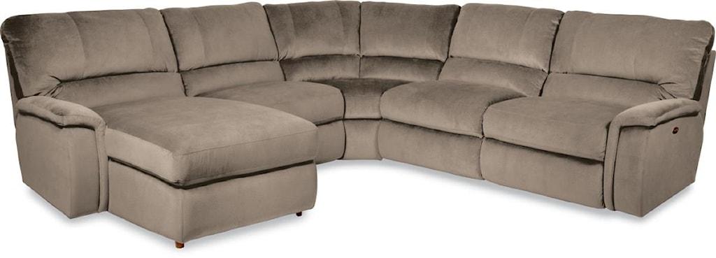 La Z Boy Aspen Five Piece Power Reclining Sectional Sofa With Ras  ~ Five Piece Sectional Sofa