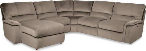 La-Z-Boy ASPEN Five Piece Power Reclining Sectional Sofa with RAS Reclining Chaise