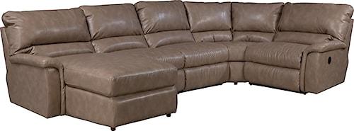 La-Z-Boy ASPEN Five Piece Power Reclining Sectional Sofa with RAS Reclining Chaise