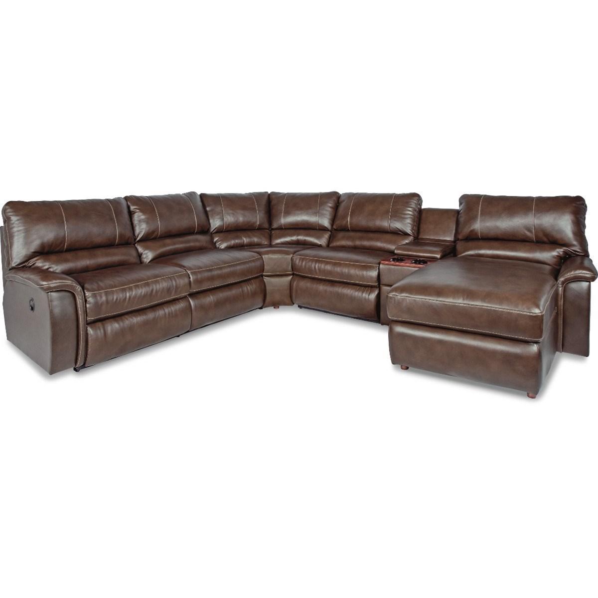 La Z Boy Aspen Six Piece Reclining Sectional Sofa With Right