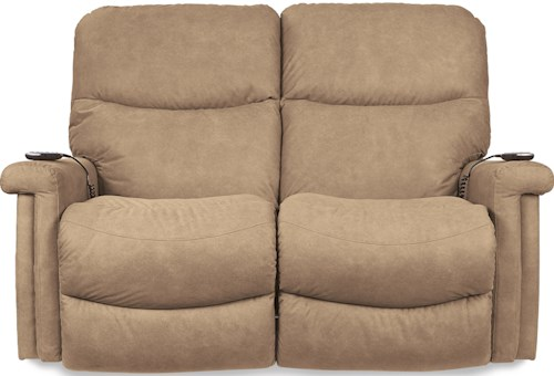 La-Z-Boy Baylor LZB Casual Power Wall Saver Reclining Loveseat with Power Adjustable Headrest and Lumbar