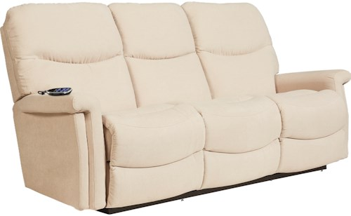 La-Z-Boy Baylor LZB Casual Power Wall Saver Reclining Sofa with Power Adjustable Headrest and Lumbar