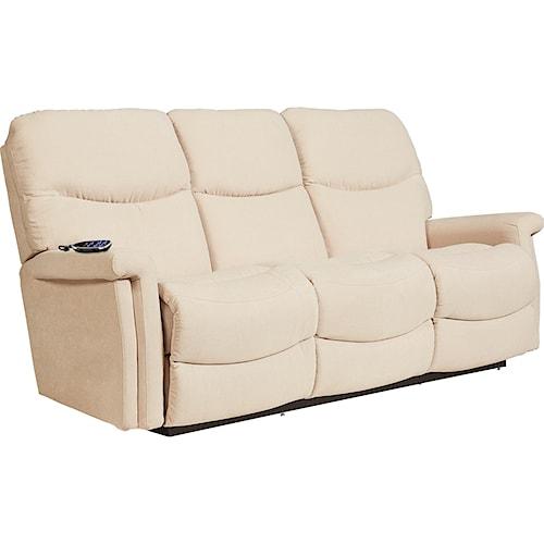 La-Z-Boy Baylor LZB Casual Power Wall Saver Reclining Sofa with Power Adjustable Headrest and Lumbar