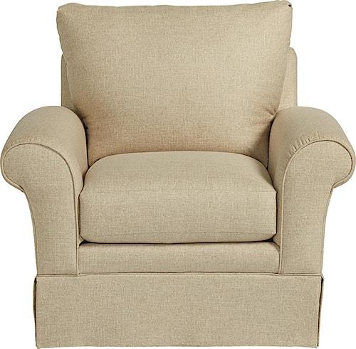 La-Z-Boy Blair Casual La-Z-Boy® Chair with Kick Pleat Skirt