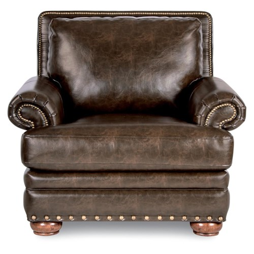 La-Z-Boy BRENNAN Traditional Chair with Comfort Core Cushion and Two Sizes of Nailhead