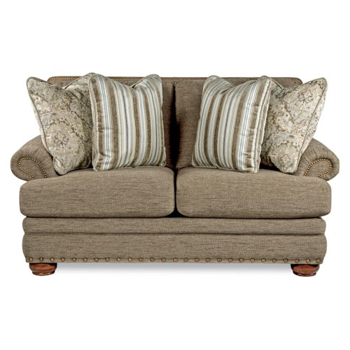 La-Z-Boy BRENNAN Traditional Loveseat with Comfort Core Cushions and Two Sizes of Nailhead