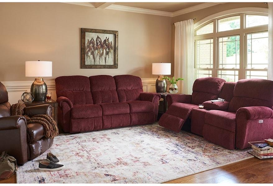 Pleasant La Z Boy Briggs Power La Z Time Full Reclining Sofa Bralicious Painted Fabric Chair Ideas Braliciousco