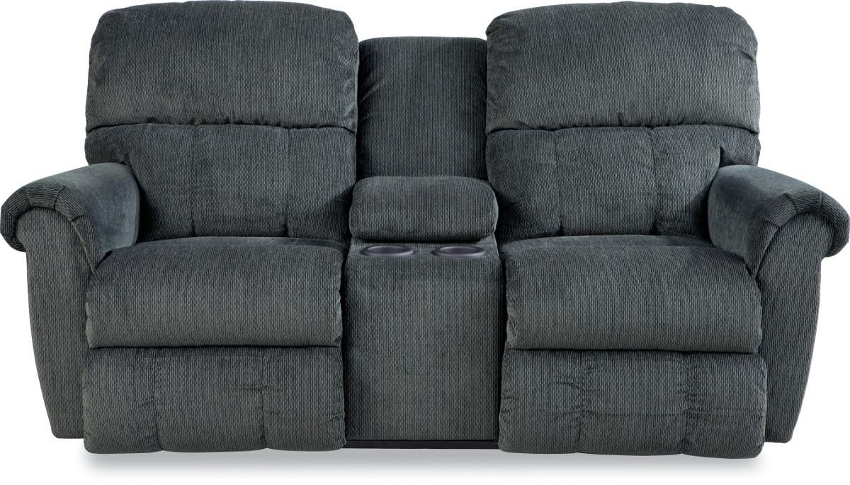 Picture of: La Z Boy Briggs Dual Recline Console Loveseat Conlin S Furniture Reclining Loveseats