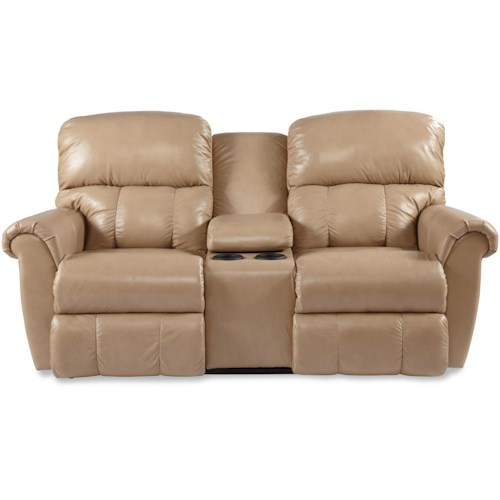 La Z Boy Briggs Power Dual Recline Console Loveseat