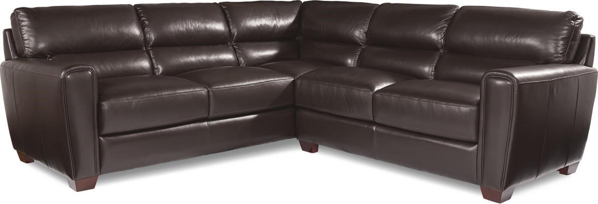 La Z Boy BRODY Two Piece Contemporary Leather Sectional Sofa