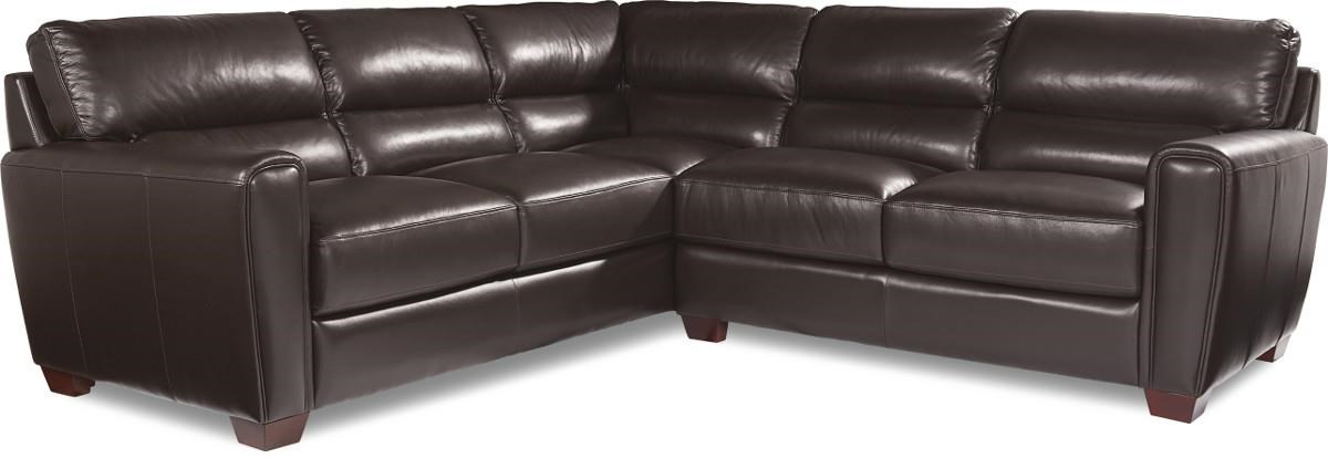 BRODY Two Piece Contemporary Leather Sectional Sofa by La-Z-Boy  sc 1 st  Morris Furniture : la z boy leather sectional - Sectionals, Sofas & Couches