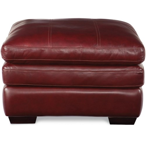 La-Z-Boy Burton Casual Ottoman with Pillow Top Cushion