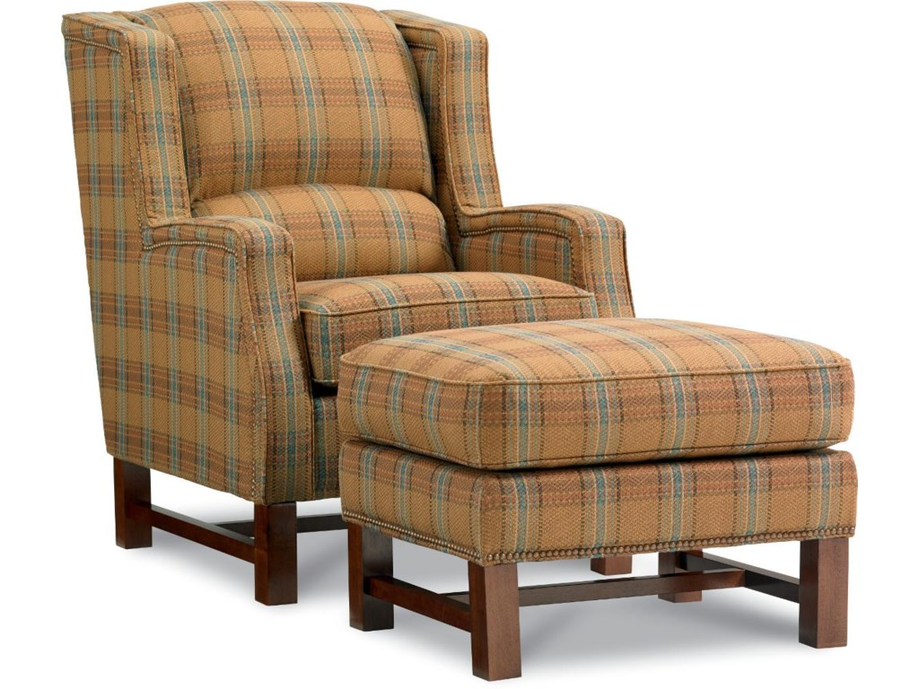 La-Z-Boy Chairs Cosmopolitan Transitional Wing Chair and Ottoman ...