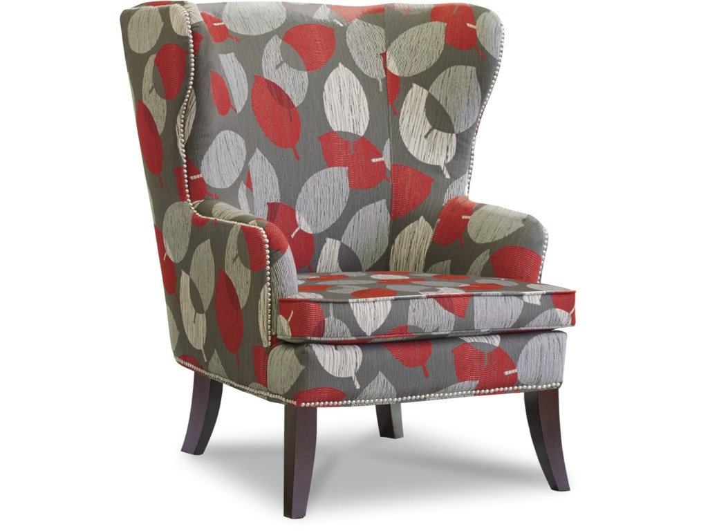 La-Z-Boy Chairs Moscato Wing Chair with Nailhead Trim | Houston\'s ...
