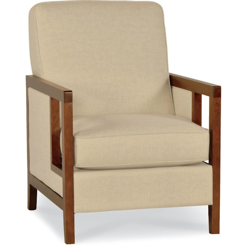 La-Z-Boy Chairs Edge Accent Chair with Exposed Wood Arms