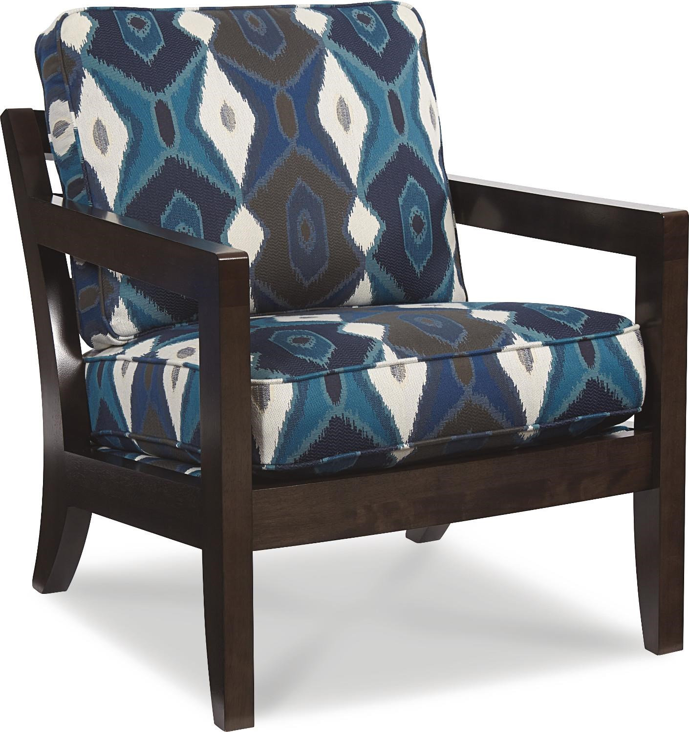 La Z Boy Chairs Gridiron Exposed Wood Chair
