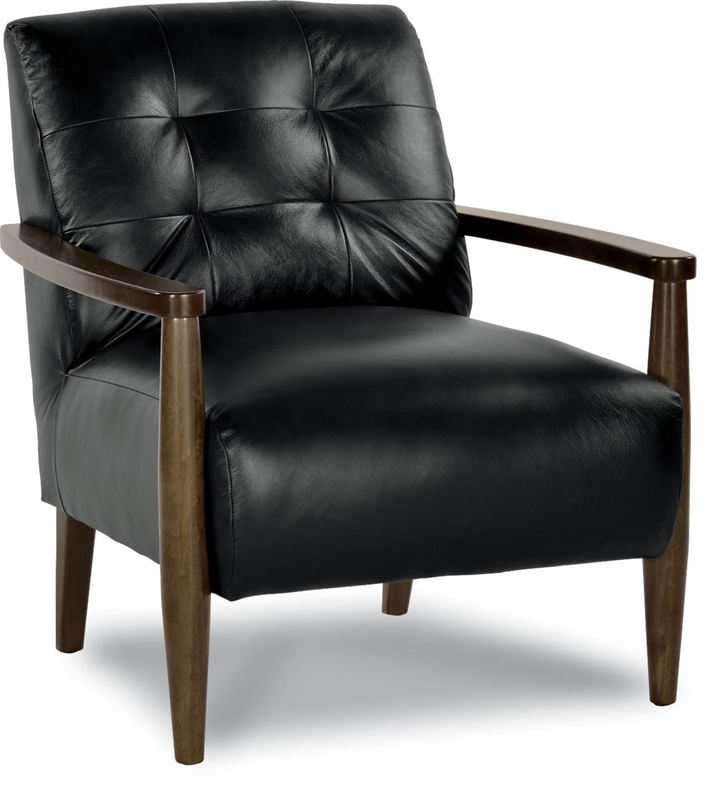 La z boy chairs stiletto mid century modern chair with exposed wood arms novello home furnishings upholstered chairs