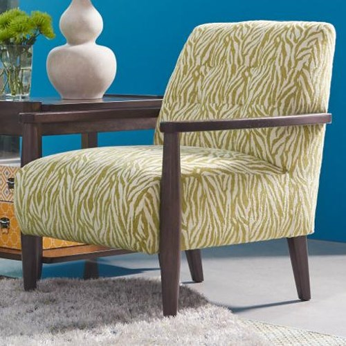 La-Z-Boy Chairs Stiletto Mid Century Modern Chair with Exposed Wood Arms