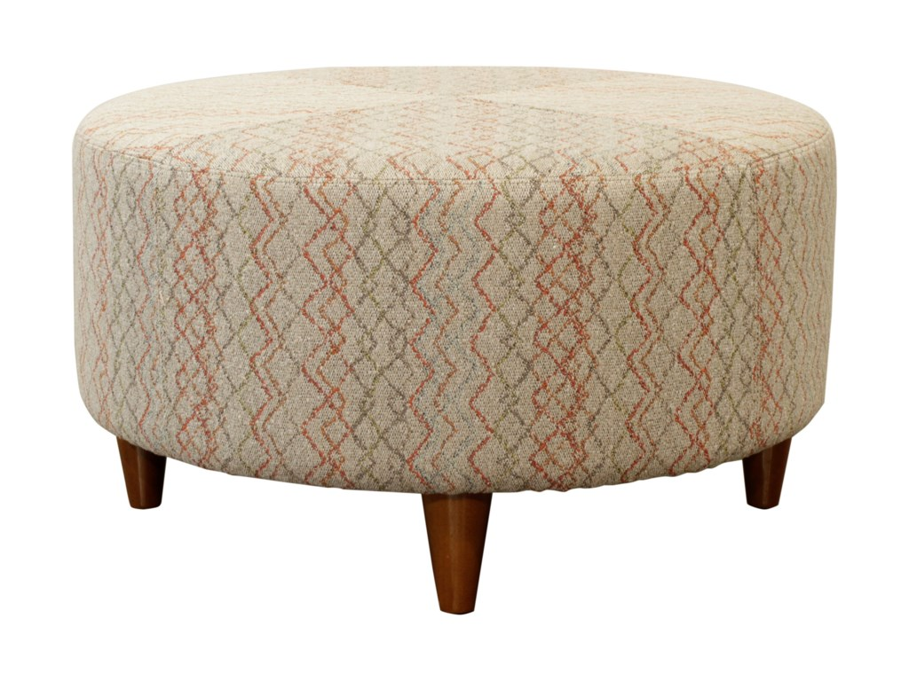 Round Coffee Table With Ottomans.Chairs Loop Round Cocktail Ottoman With Topstitch Detailing By La Z Boy At Homeworld Furniture