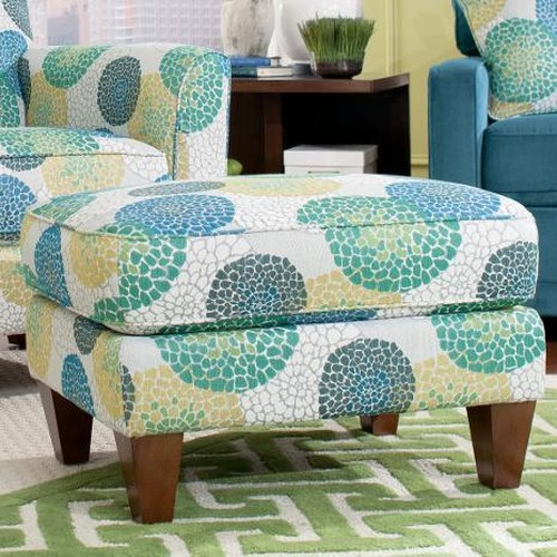 La-Z-Boy Chairs Allegra Ottoman with Tapered Wood Legs
