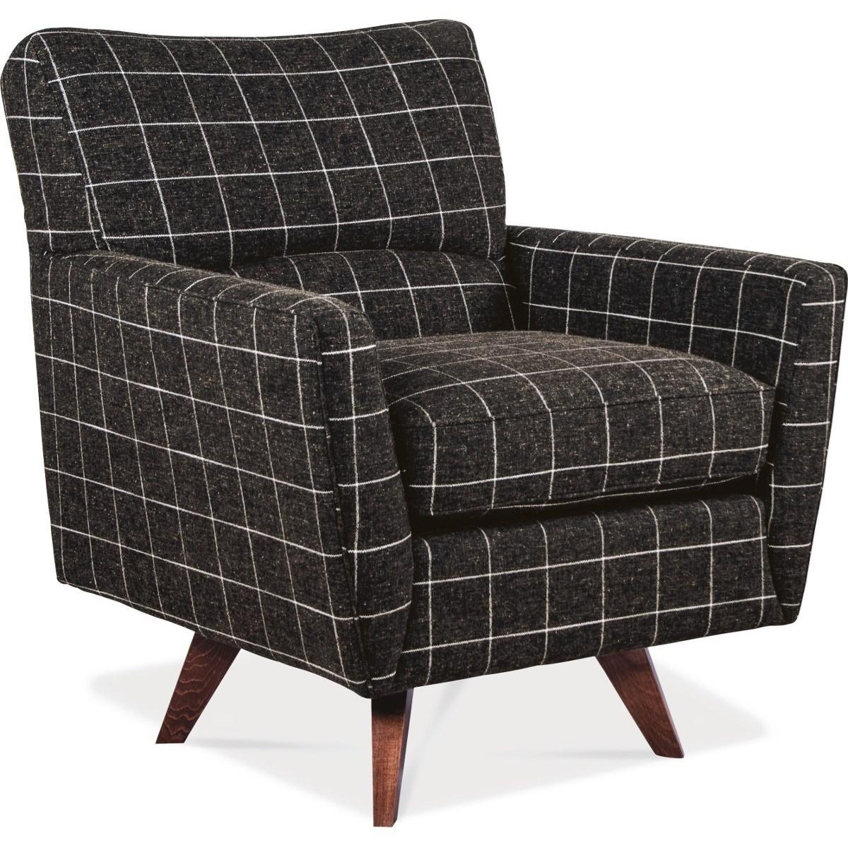 La Z Boy Chairs Bellevue Mid Century Modern High Leg Swivel Chair