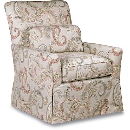 La-Z-Boy Chairs Lena Skirted Swivel Gliding Chair Premier ComfortCore® Cushion