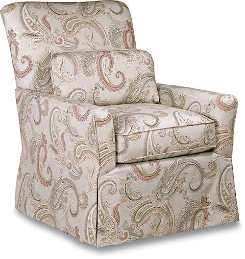 La-Z-Boy Chairs Lena Skirted Swivel Chair Premier ComfortCore® Cushion