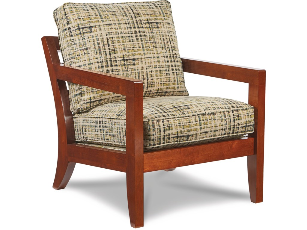 La-Z-Boy Chairs Gridiron Exposed Wood Chair | Morris Home | Exposed ...