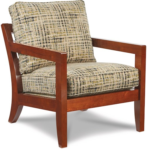 La-Z-Boy Chairs Gridiron Exposed Wood Chair