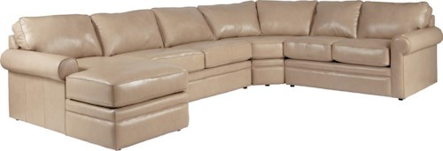 La-Z-Boy Collins Sectional Sleeper Sofa with Full Mattress