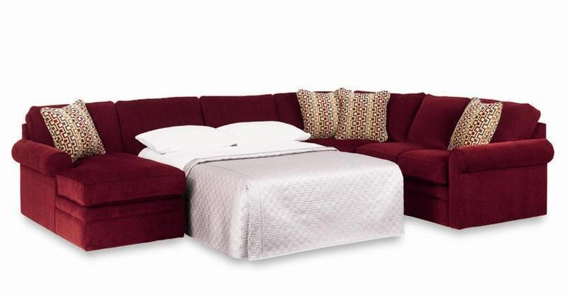 Picture of: La Z Boy Collins Sectional Sleeper Sofa With Full Mattress Conlin S Furniture Sectional Sofas