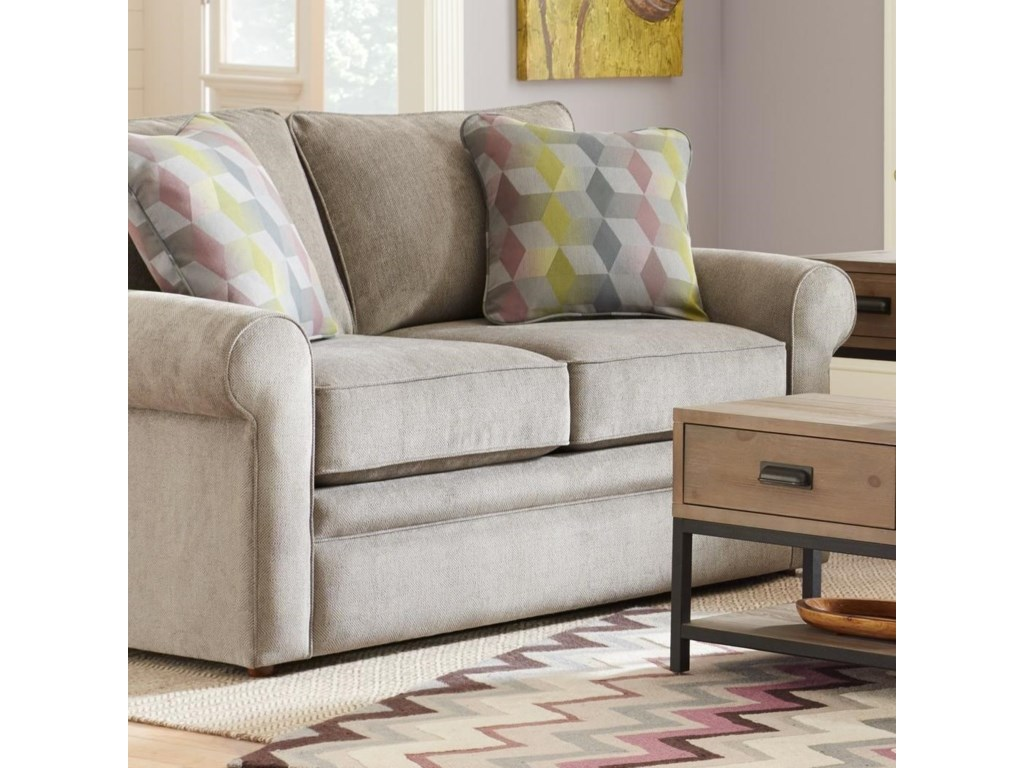 LaZBoy Collins Loveseat With Rolled Arms Novello Home - Collins sectional sleeper sofa