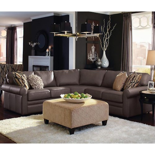 La z boy collins four piece corner sectional sofa for B m living room furniture
