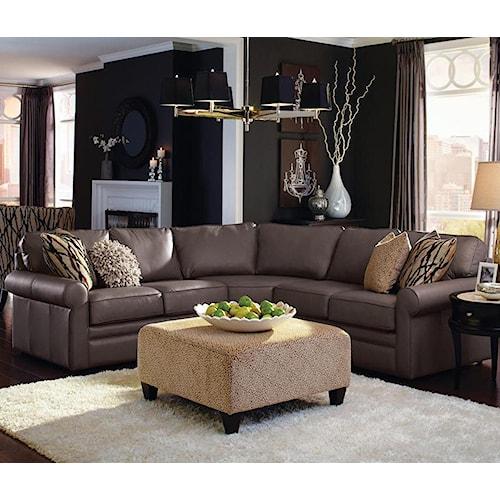 La Z Boy Collins Four Piece Corner Sectional Sofa Jordan