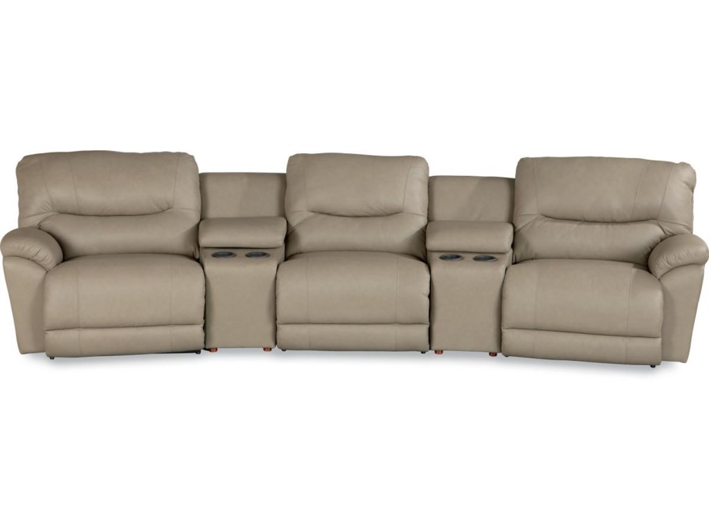 La Z Boy Dawson Casual Reclining Home Theater Sectional Vandrie Furnishings Seating