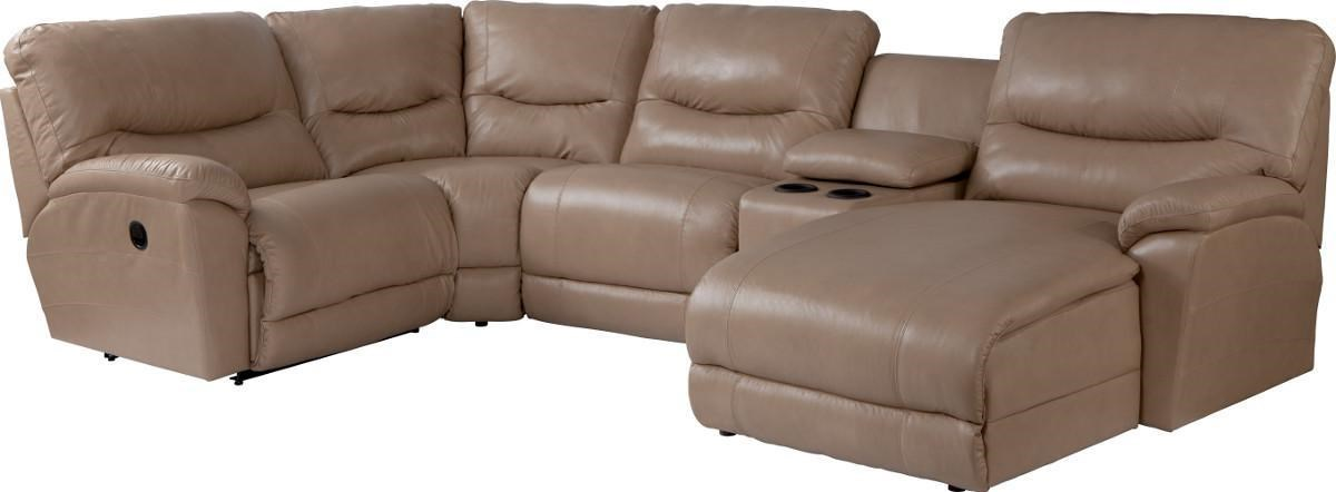 lazboy dawson casual five piece reclining sectional sofa with las chaise morris home reclining sectional sofas