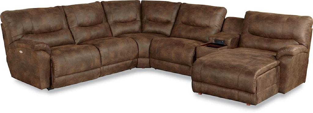 La Z Boy Dawson Casual Six Piece Power Reclining Sectional Sofa  ~ Reclining Sectional Sofa With Chaise Lounge