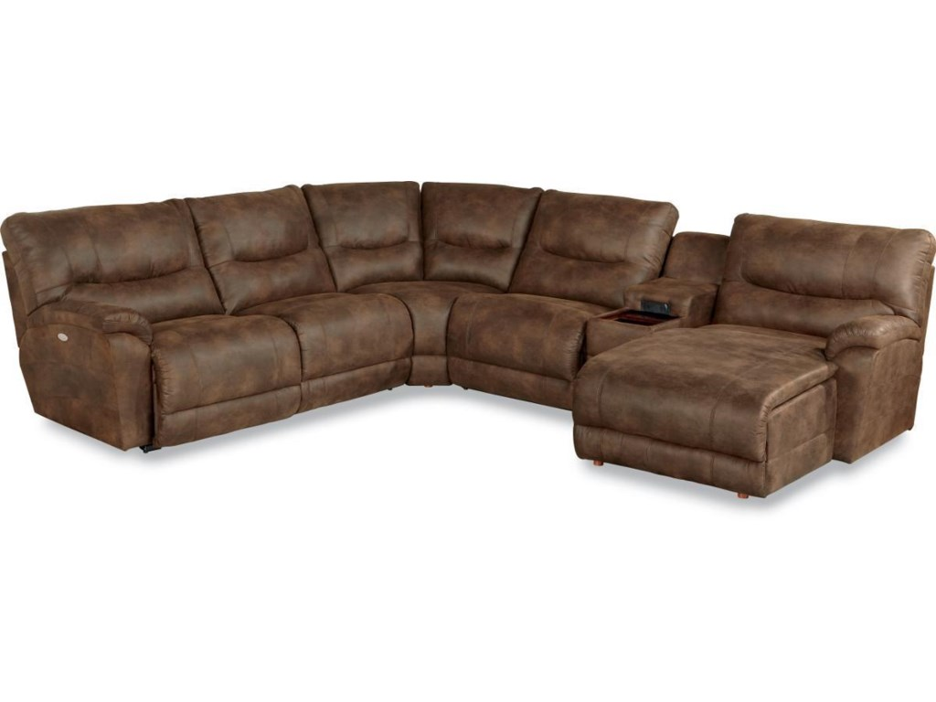 La Z Boy Dawson6 Pc Reclining Sectional W Las Chaise