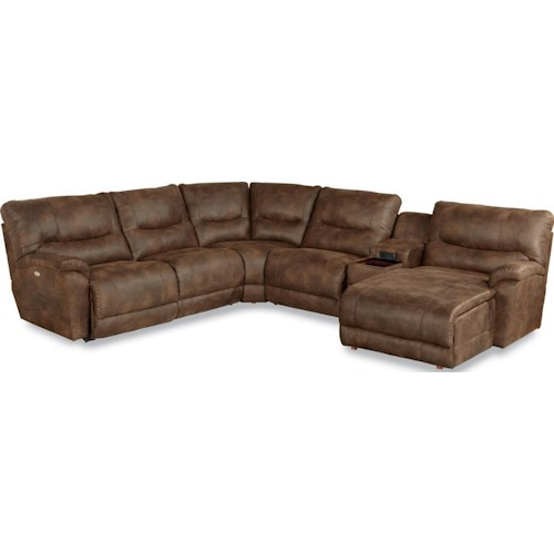 La-Z-Boy Dawson Casual Six Piece Power Reclining Sectional Sofa with LAS Chaise