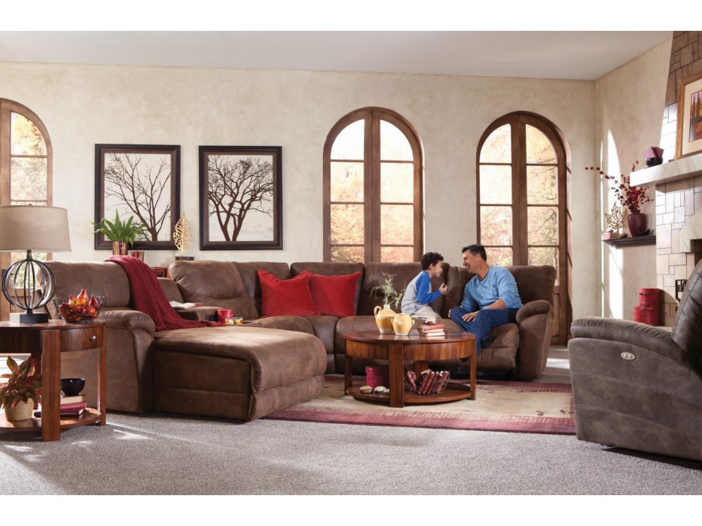 La-Z-Boy Dawson6 Pc Power Reclining Sectional w/ LAS Chaise
