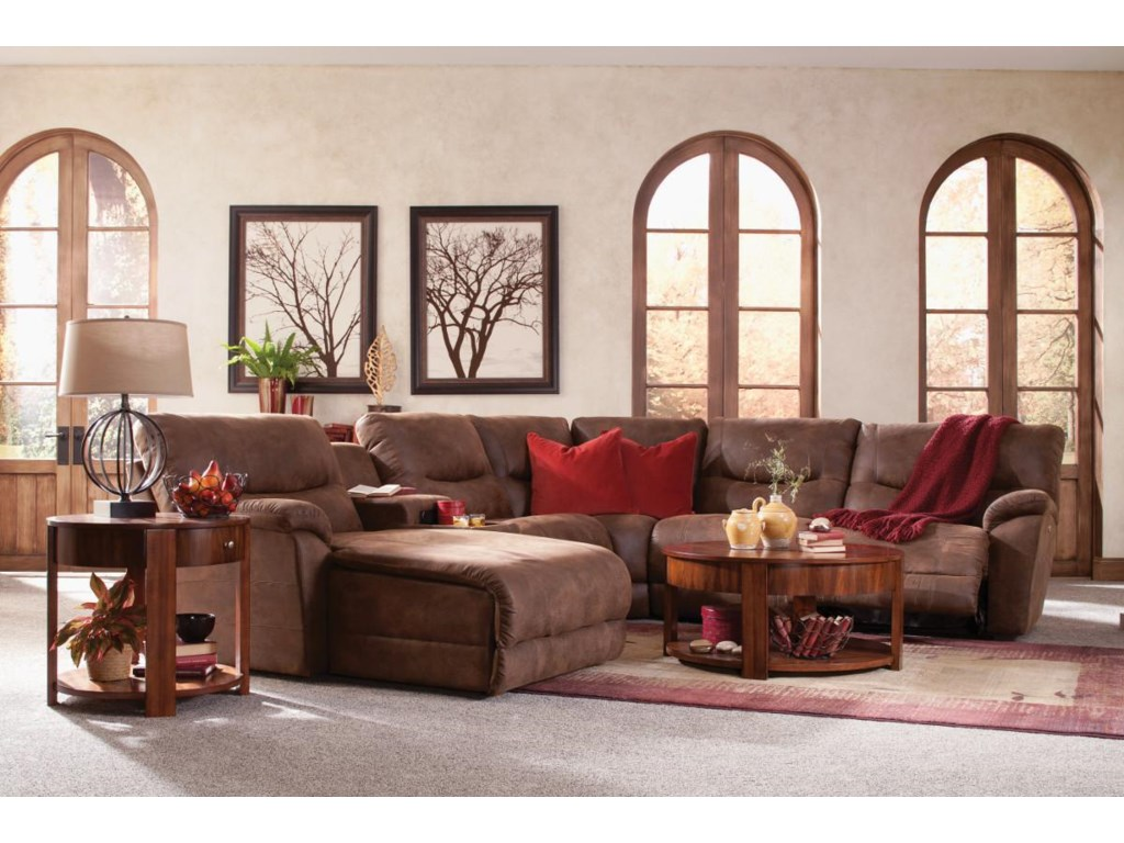 La-Z-Boy Dawson6 Pc Reclining Sectional Sofa w/ LAS Chaise