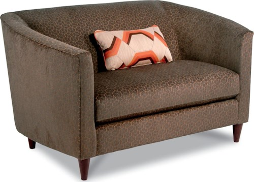 La-Z-Boy DECO Contemporary Settee Loveseat with Modern Shelter Arms