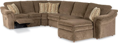 La-Z-Boy Devon  4-Piece Reclining Sectional Sofa with LAS