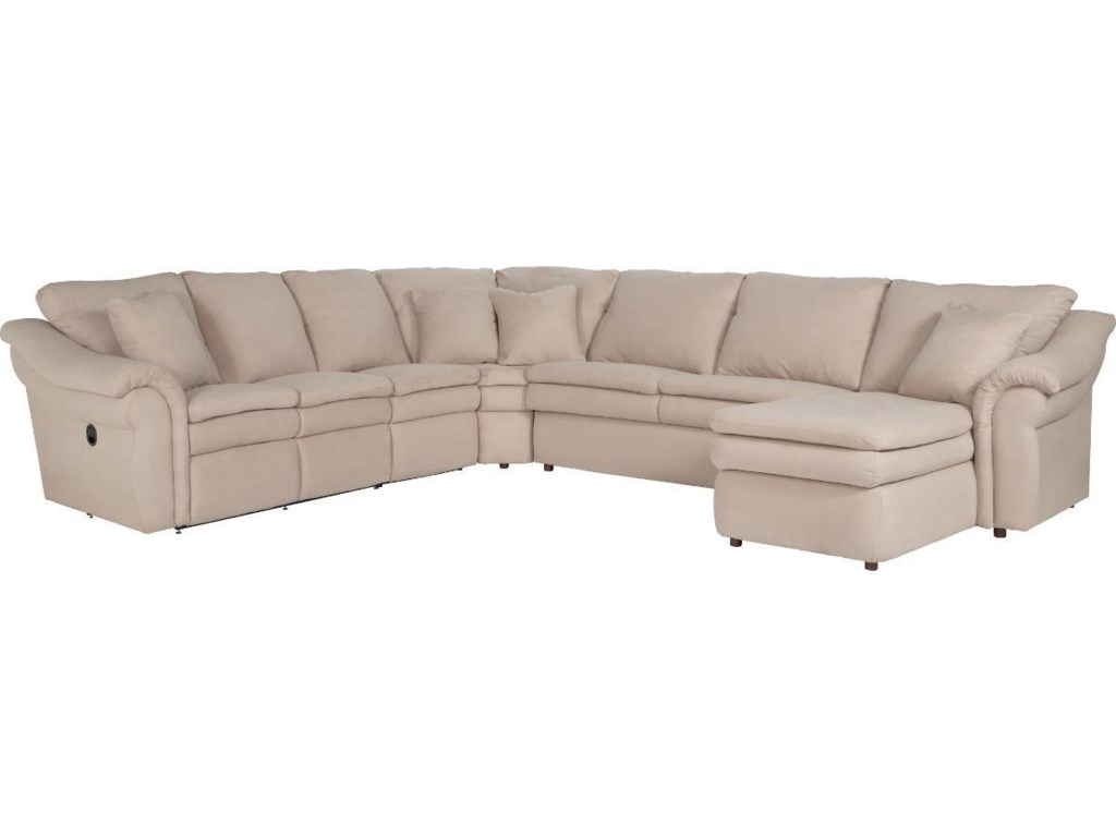 La-Z-Boy Devon 5 Piece Power Reclining Sectional Sofa