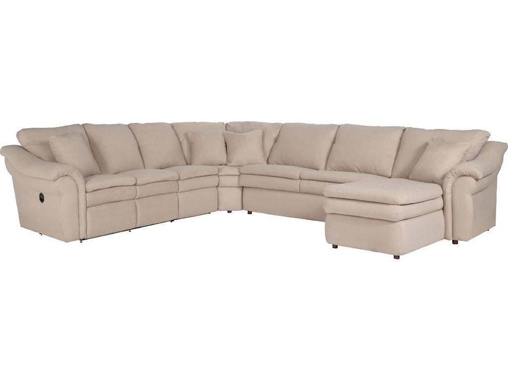 La Z Boy Devon 5 Piece Reclining Sectional Sofa