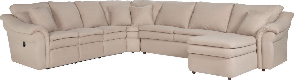 Beau La Z Boy Devon 5 Piece Power Reclining Sectional Sofa