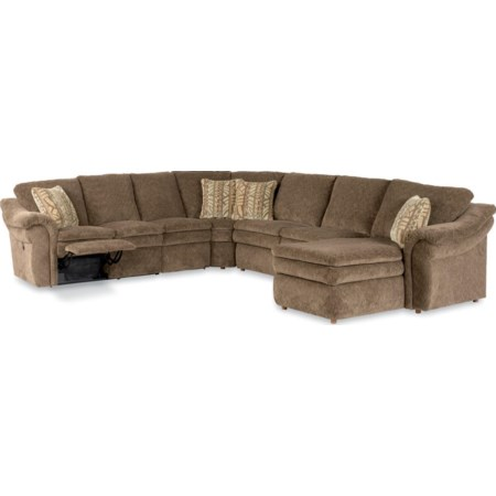 5 Piece Power Reclining Sectional Sofa