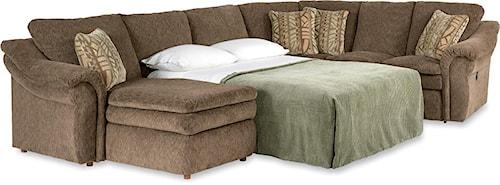 La-Z-Boy Devon  4 Piece Sectional Sofa with RAS Chaise and Full Sleeper